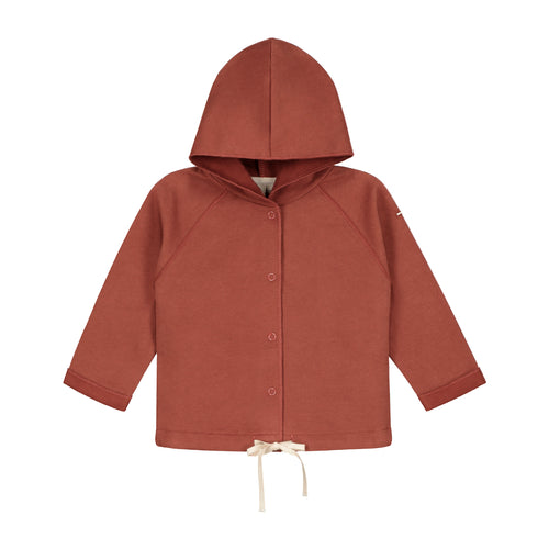Baby Hooded Cardigan, Faded Red