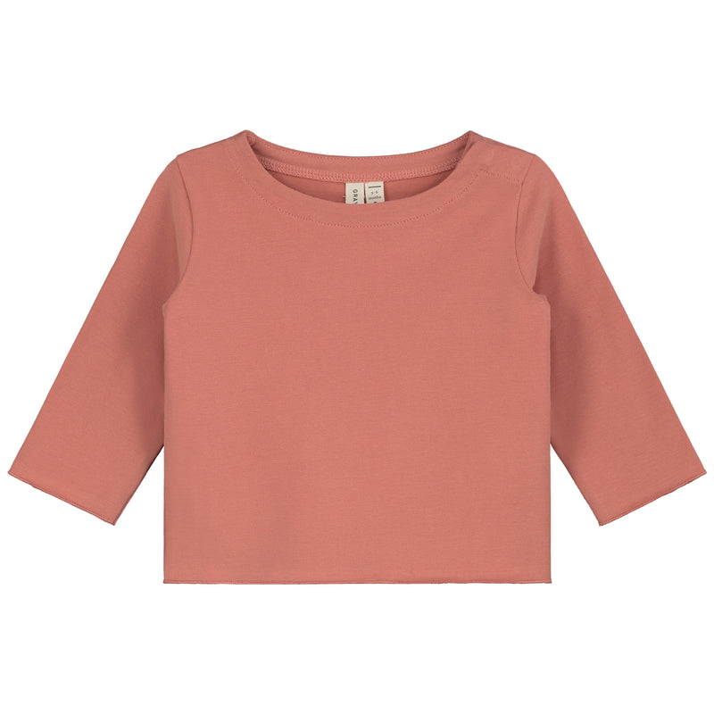 Gray Label Baby L/S Tee, Faded Red