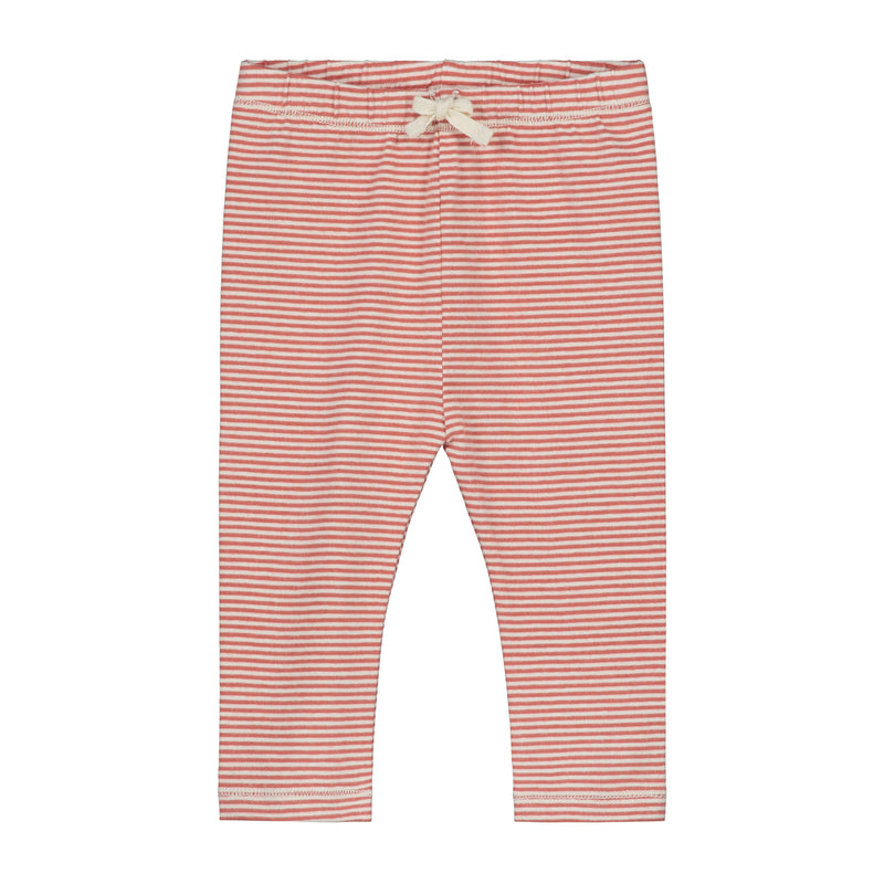 Gray Label Baby Leggings, Faded Red/Cream Stripe