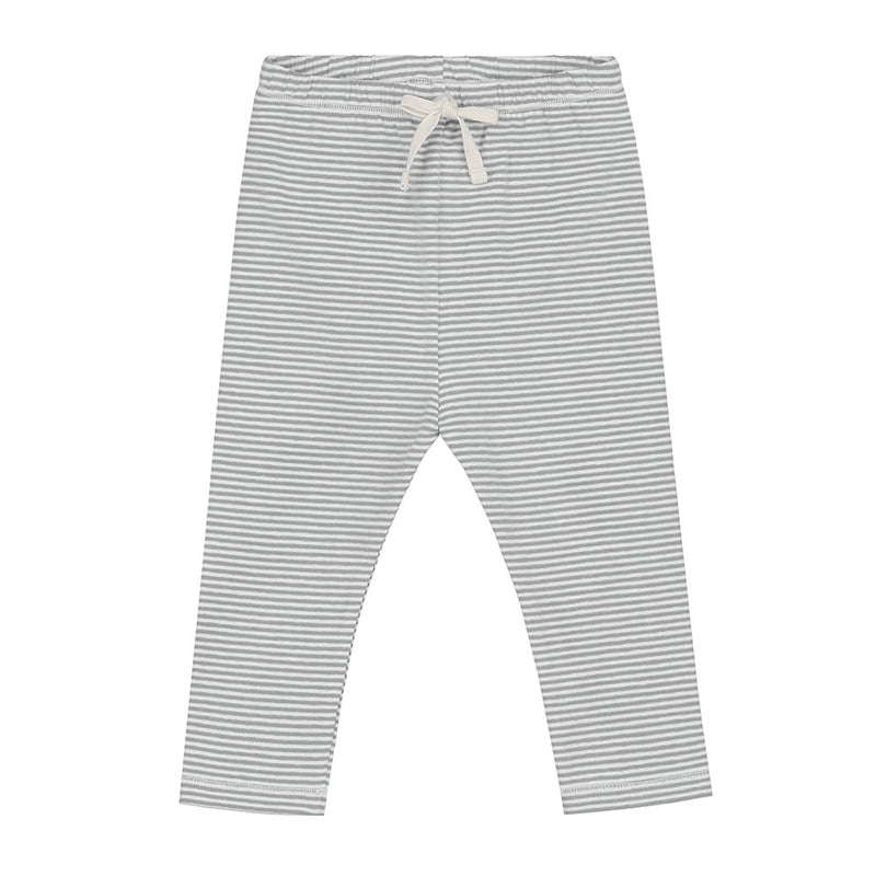 Gray Label Baby Leggings, Grey Melange/Cream Stripe