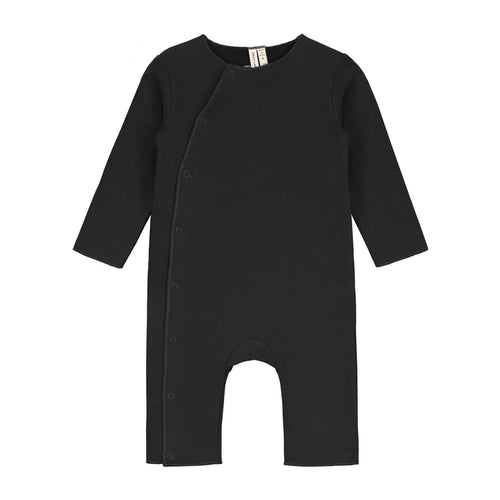 Baby Suit with Snaps, Nearly Black