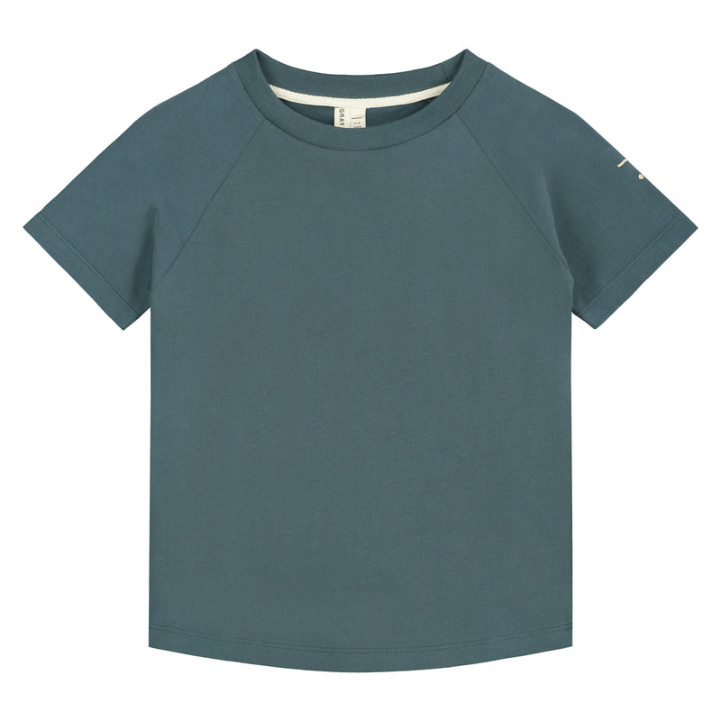 Crewneck Tee, Blue Grey