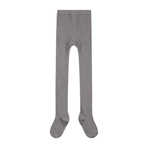 Gray Label Ribbed Tights, Grey
