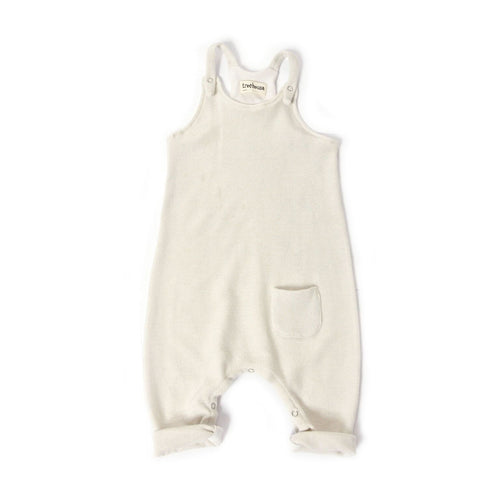 Treehouse Bib Onesie, Cloud White