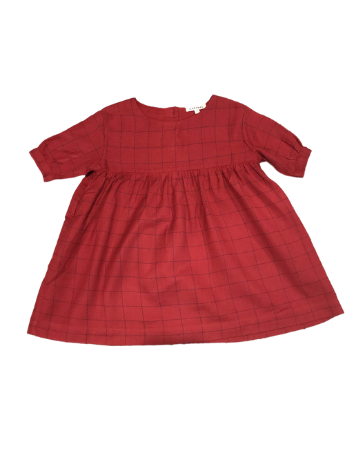 Caramel Belvoir Dress, Red Stabstitch