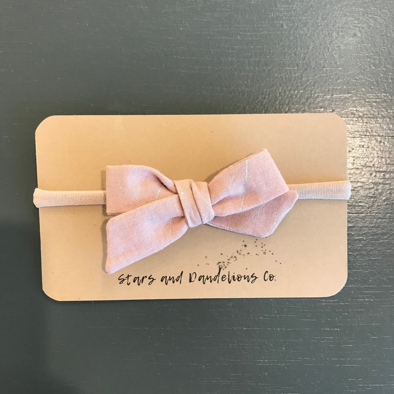 Baby Bow, Pink Tint with Silver Raindrop