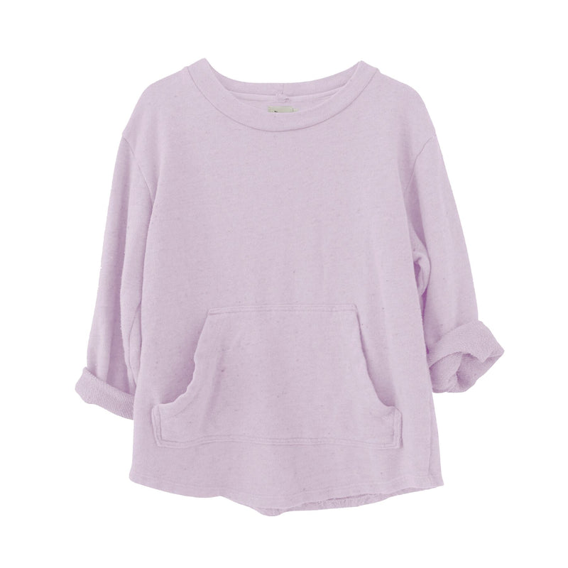 Mikey Speckled Pullover, Wisteria