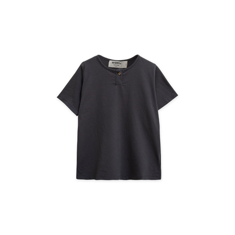 Go Gently Nation Jersey Henley, Charcoal