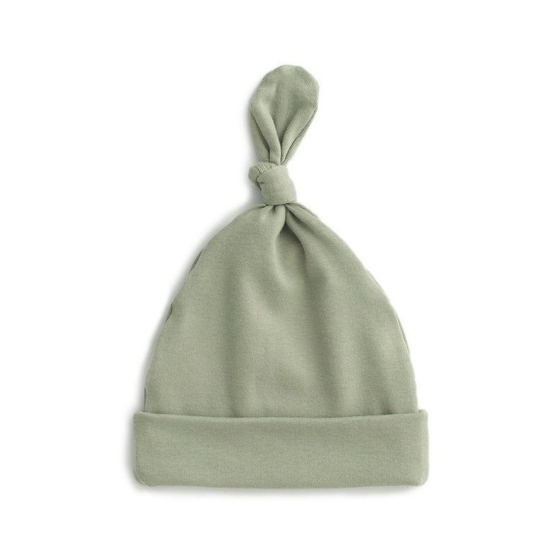 Knotted Baby Hat, Solid Sage