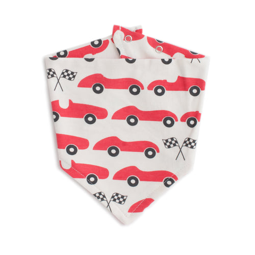Kerchief Bib Race Cars, Red