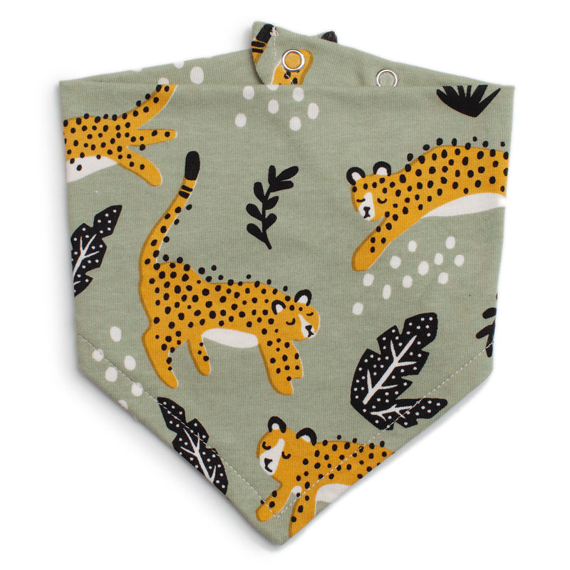 Winter Water Factory Kerchief Bib, Wildcats Sage