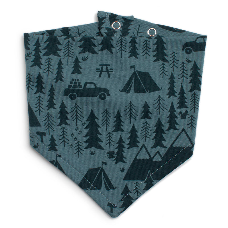 Winter Water Factory Kerchief Bib, Campground Teal