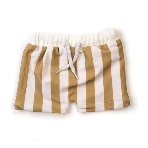 Kidwild Swim Trunks, Yellow Stripe