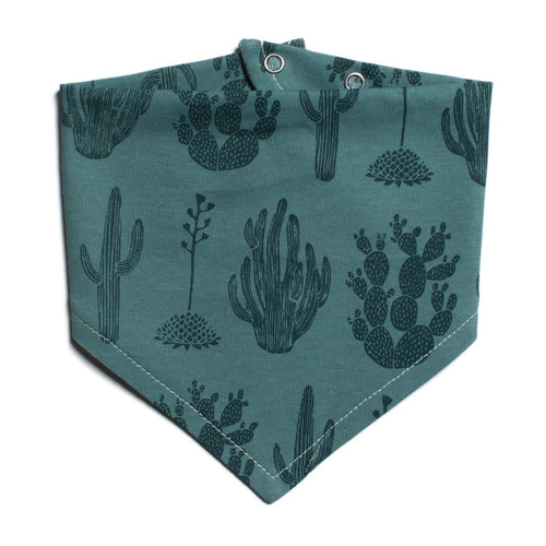Winter Water Factory Kerchief Bib, Cactus Teal