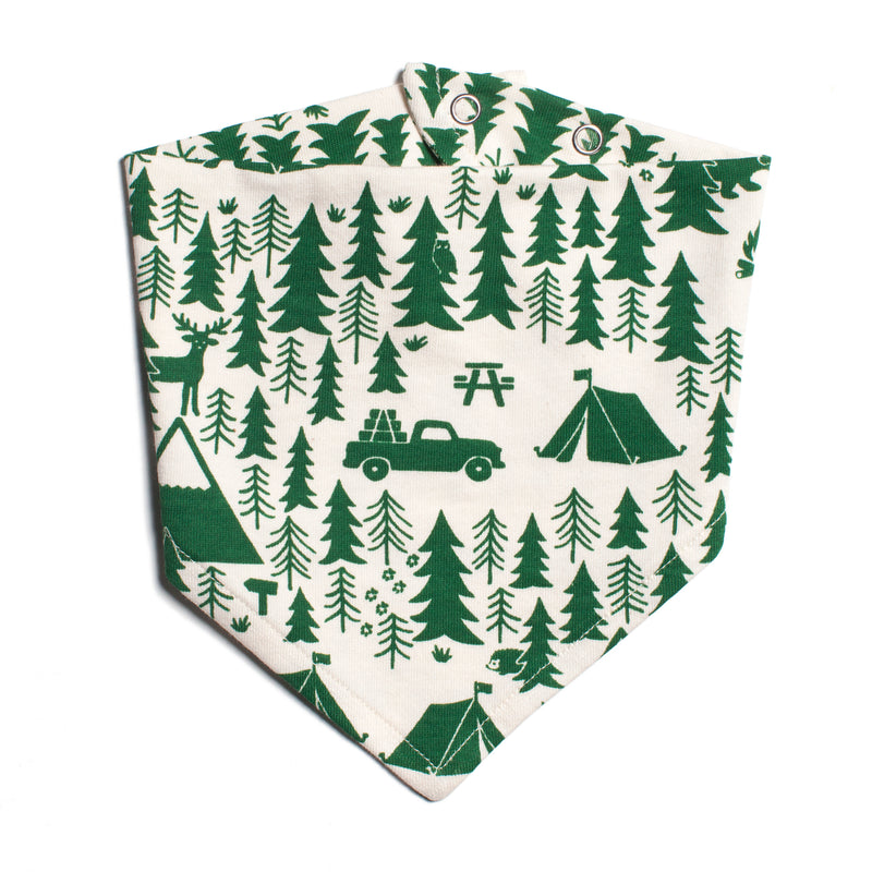 Winter Water Factory Kerchief Bib, Campground Green