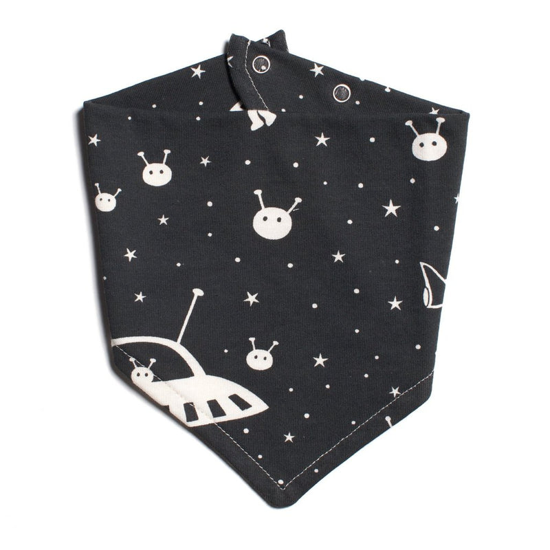 Winter Water Factory Kerchief Bib, Outer Space Charcoal