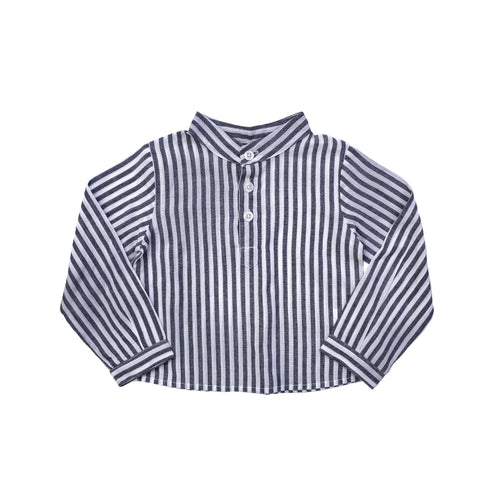 French Collar Shirt, Harbor Island Stripe