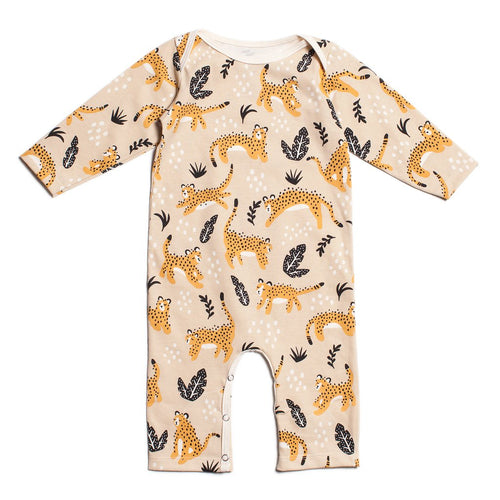 Long-Sleeve Romper, Wildcats Beige