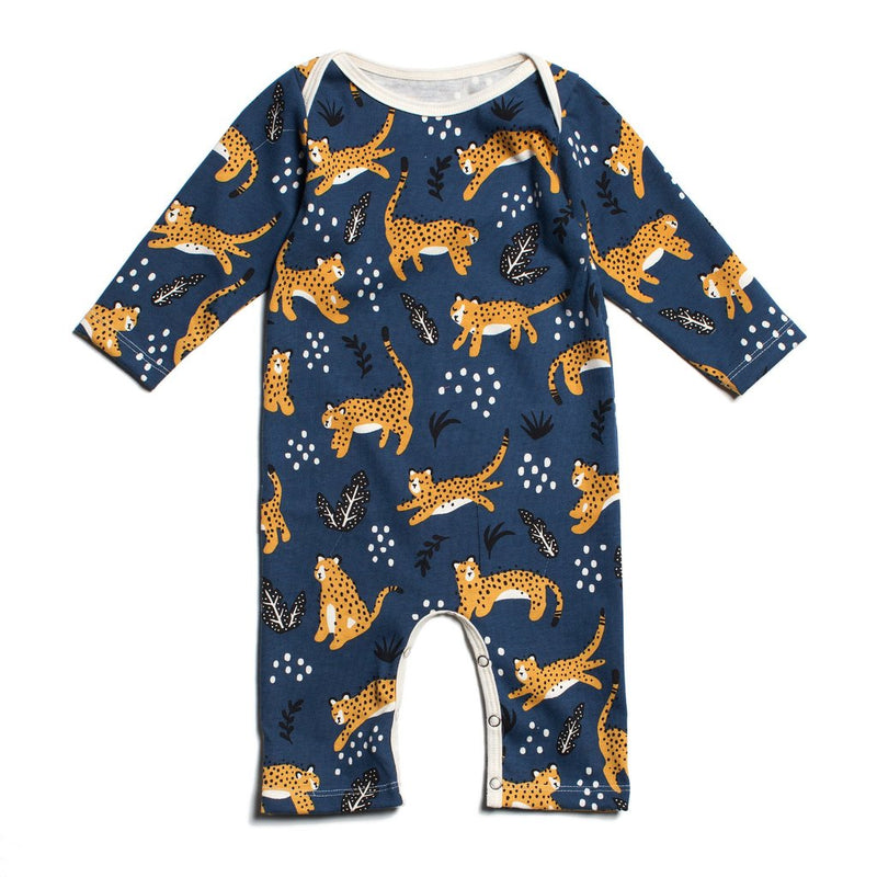 Winter Water Factory Long-Sleeve Romper, Wildcats Navy