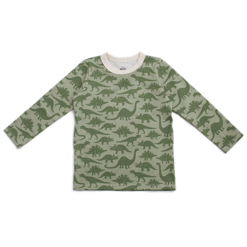 Long-Sleeve Tee, Dinosaurs Sage