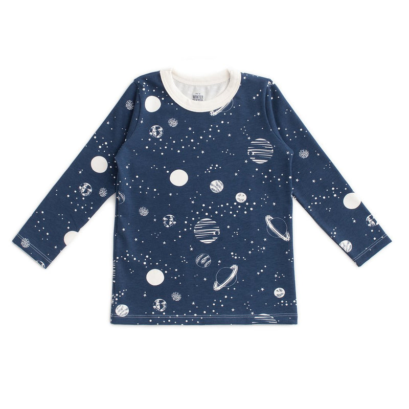 Long-Sleeve Tee, Planets Night Sky