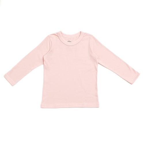 Long-Sleeve Tee, Solid Pink