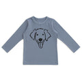 Long-Sleeve Tee, Dog Slate Blue