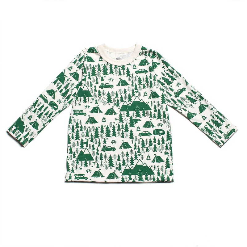 Winter Water Factory Long-Sleeve Tee, Campground Green
