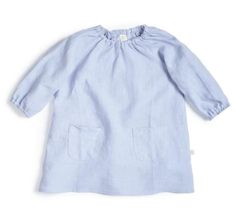 Les Gamins Linen Smock Dress, Ciel