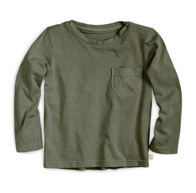 The Long Sleeve Pocket Tee, Olive