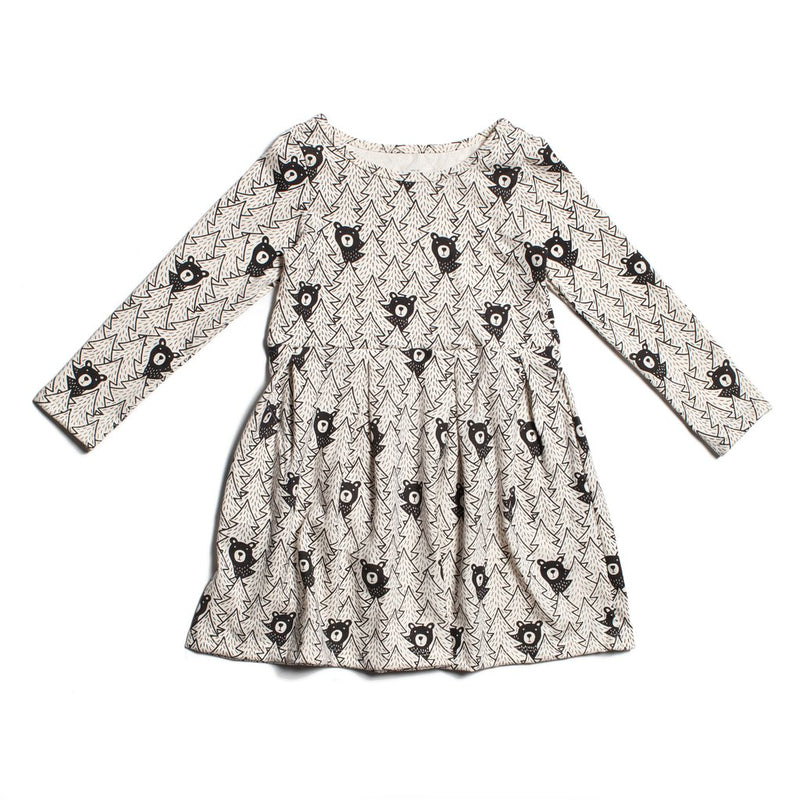 Madison Dress, Bears Black