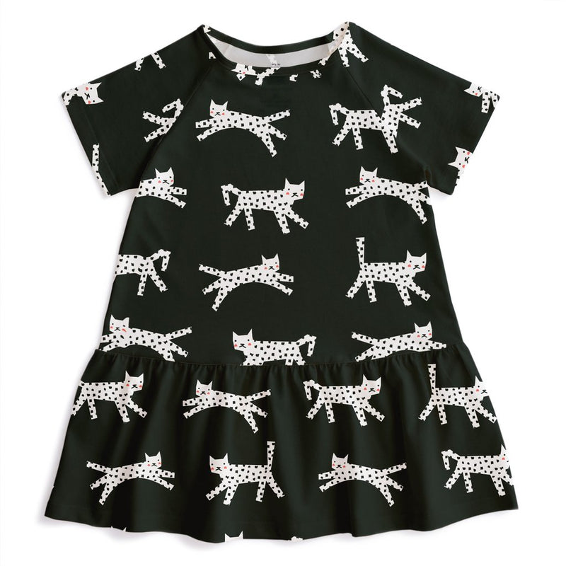 Milwaukee Dress, Cats Black