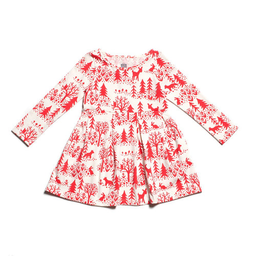 Winter Water Factory Madison Dress, Winter Scenic Red