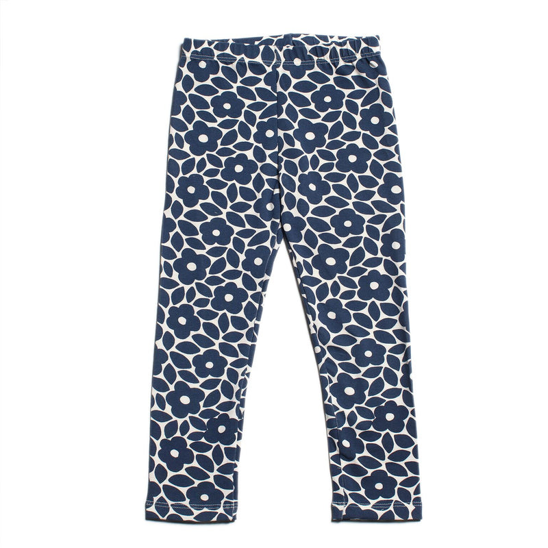 Winter Water Factory Leggings, Floral Midnight Blue