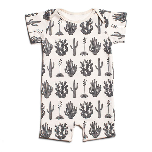 Winter Water Factory Summer Romper, Cactus Black