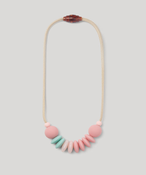 January Moon Sensory Necklace, Cotton Candy