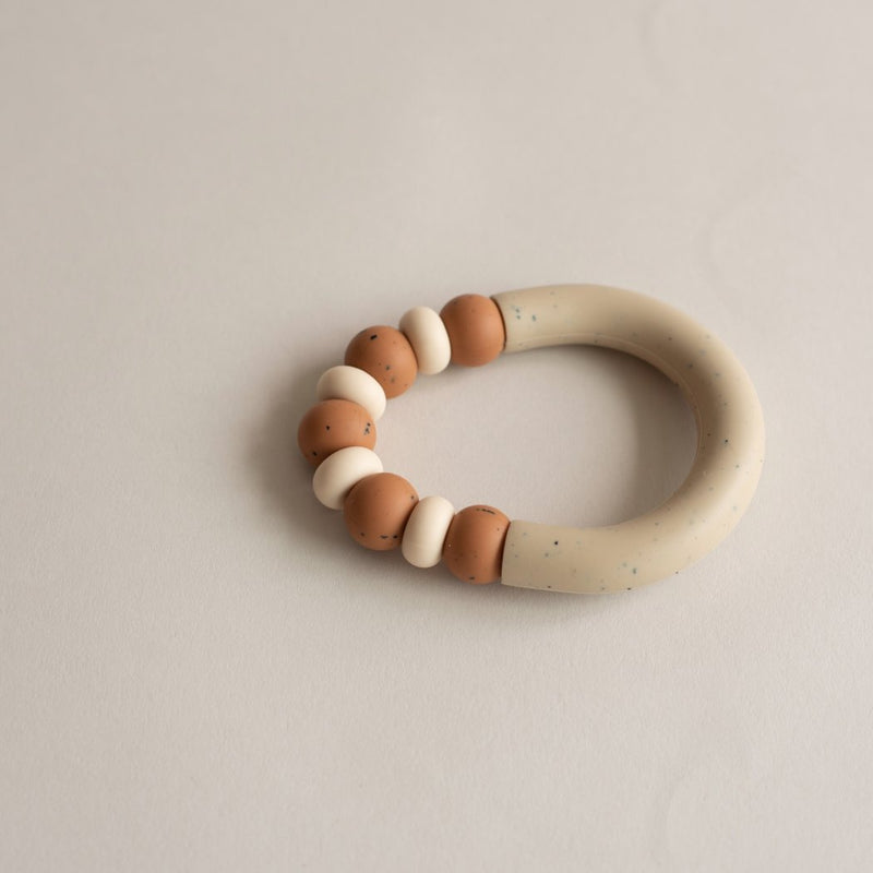 Otherware Mini Chill Teether, Earthen/Sandstone