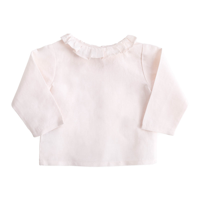 Linen Blouse, Blossom Pink