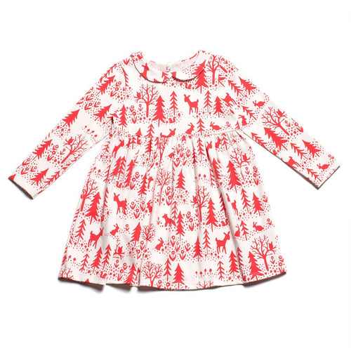 Winter Water Factory Nashville Dress, Winter Scenic Red