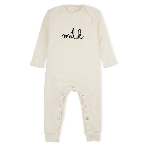 Organic Zoo Milk Playsuit, Natural