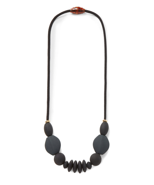 January Moon Signature Necklace, Charcoal