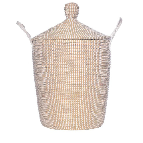 Olli Ella Neutra Lidded Basket, Large