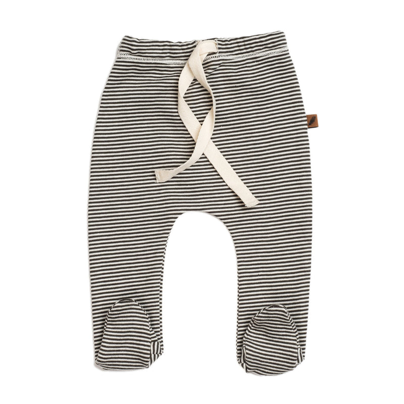 Organic Footed Pants, Stripe