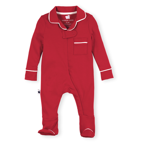 Pajama Footie, Red