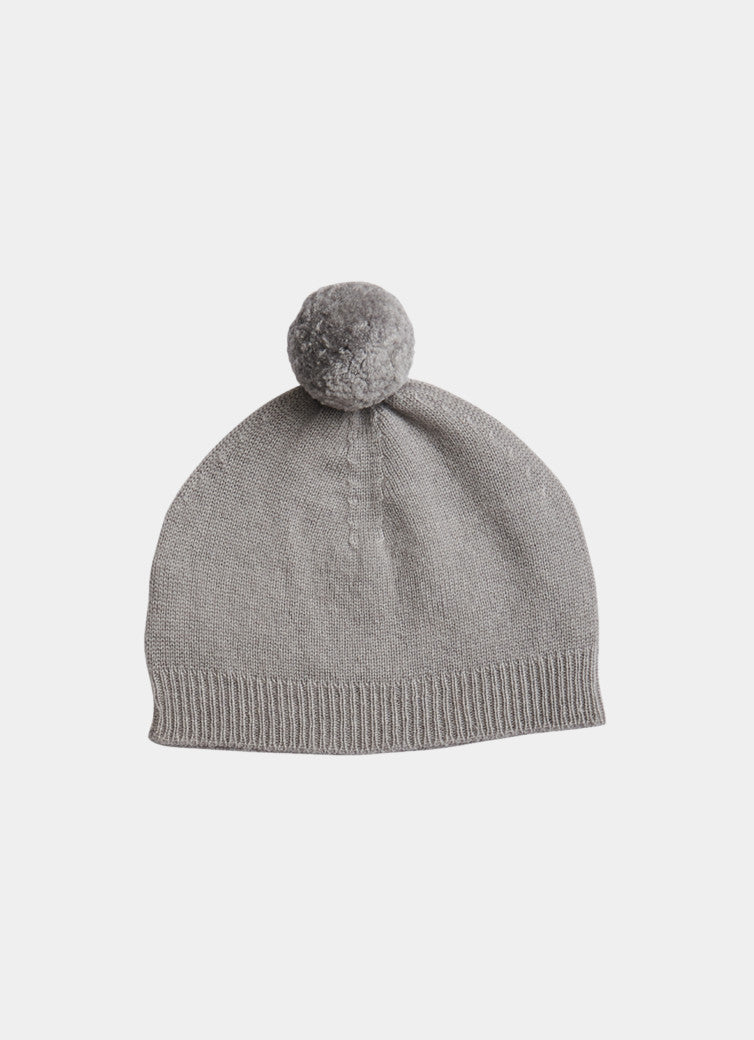 Pompom Hat, Cloud Grey