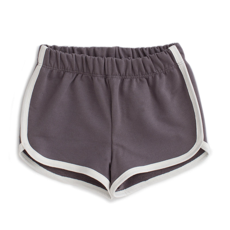 French Terry Shorts, Solid Charcoal