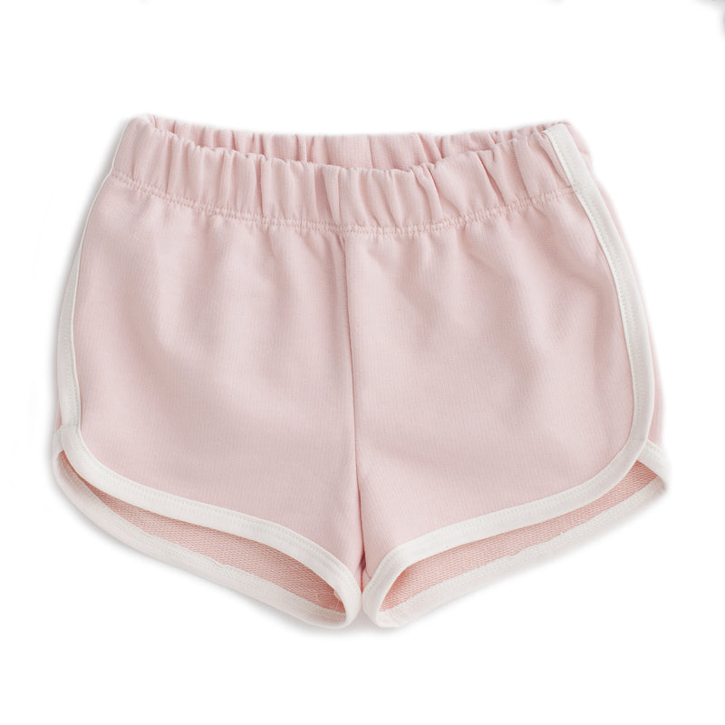 French Terry Shorts, Solid Pink