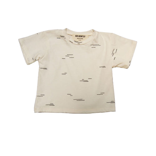 Go Gently Nation Printed Tee, White Line