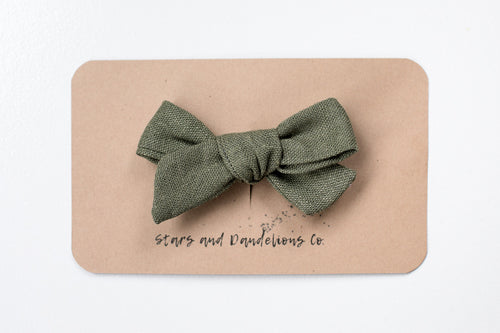 Stars and Dandelions Josie Small Bow/Pig Tail, Green
