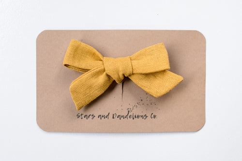 Stars and Dandelions Josie Small Bow/Pig Tail, Mustard